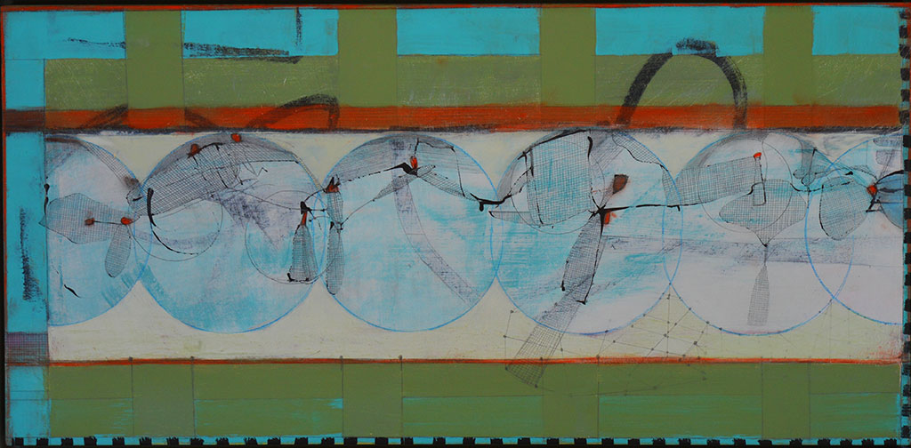 'The Eclipse of the Moon', mixed media on board, 29.5 x 63cm
