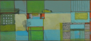 'The Japanese Tea House', mixed media on board, 28.5 x 63.5cm