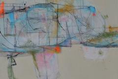 'Blue Light', 25x20cm, mixed media on board, 2016