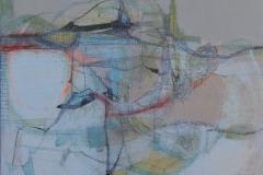 'Field Marks II', mixed media, 2016
