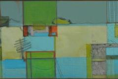 'The Japanese Tea House', mixed media on board, 28.5 x 63.5cm